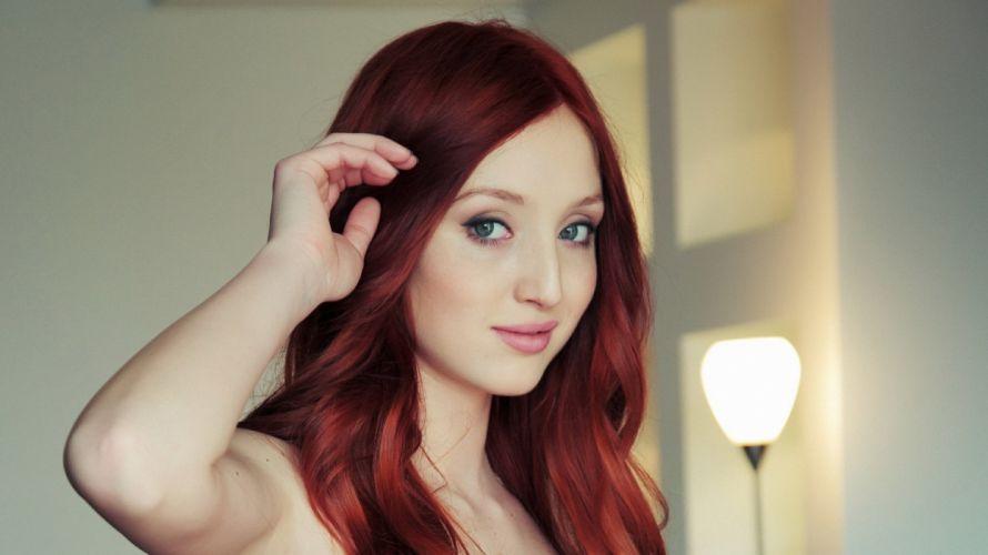 women eyes redheads models lips faces wallpaper