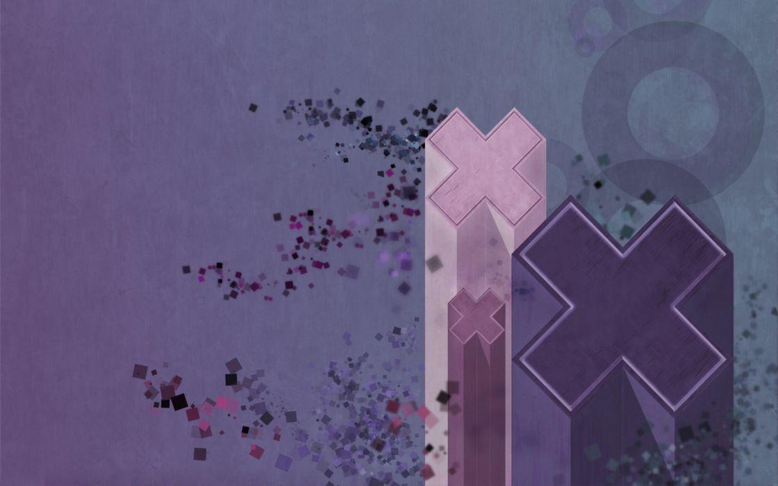 abstract blue purple digital art pastel wallpaper
