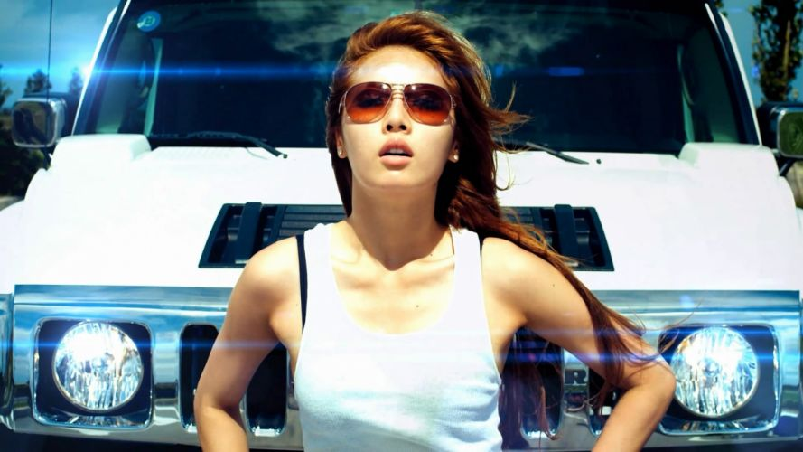 women cars vehicles Hummer Hyuna Kim Hyun-A wallpaper