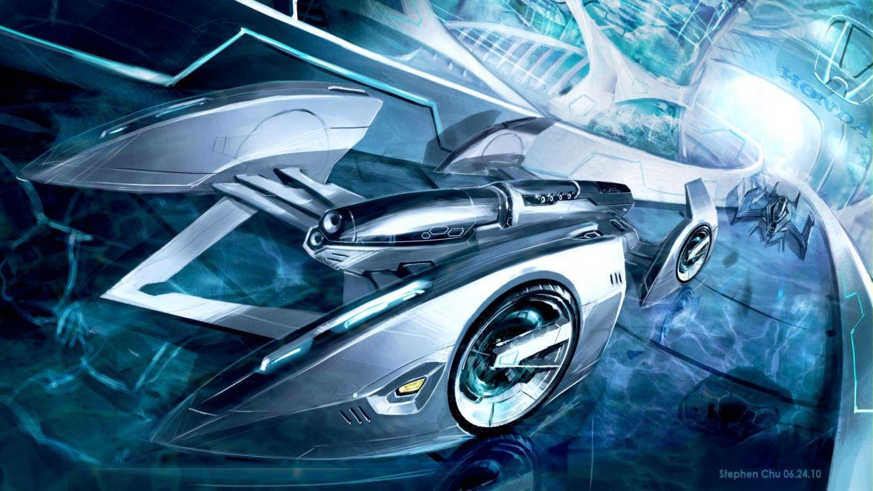 Fantasy Honda Futuristic Cars Wallpaper 1920x1080 66584