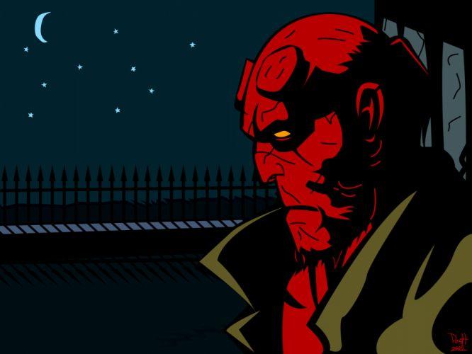comics Hellboy illustrations wallpaper