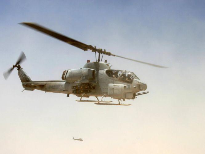 aircraft military AH-1 Cobra United States Marine Corps wallpaper