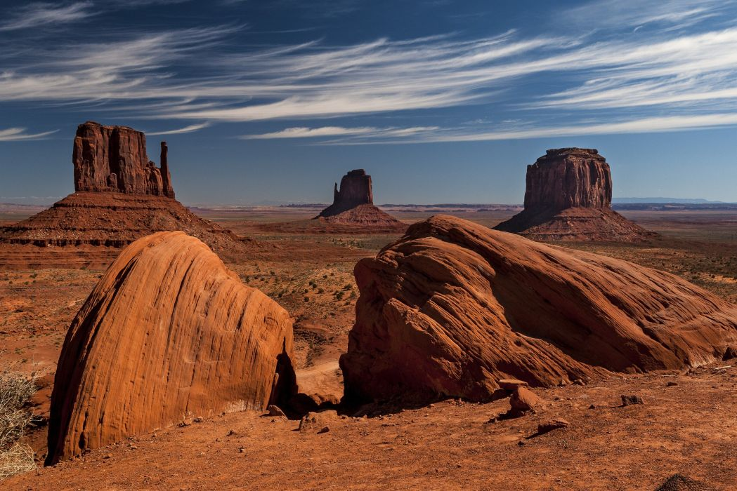 landscapes nature desert rocks Monument Valley rock formations Navajo wallpaper