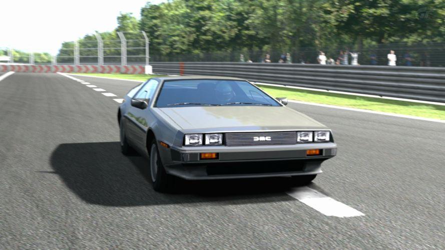 video games cars vehicles DeLorean DMC-12 Gran Turismo 5 PS3 wallpaper