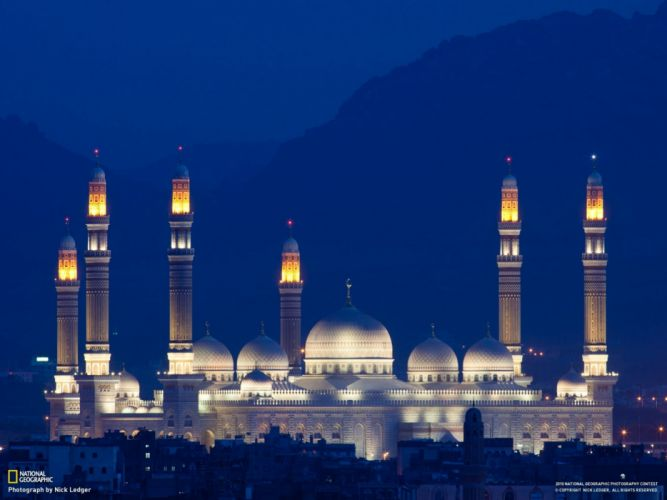 architecture buildings National Geographic mosque Yemen wallpaper