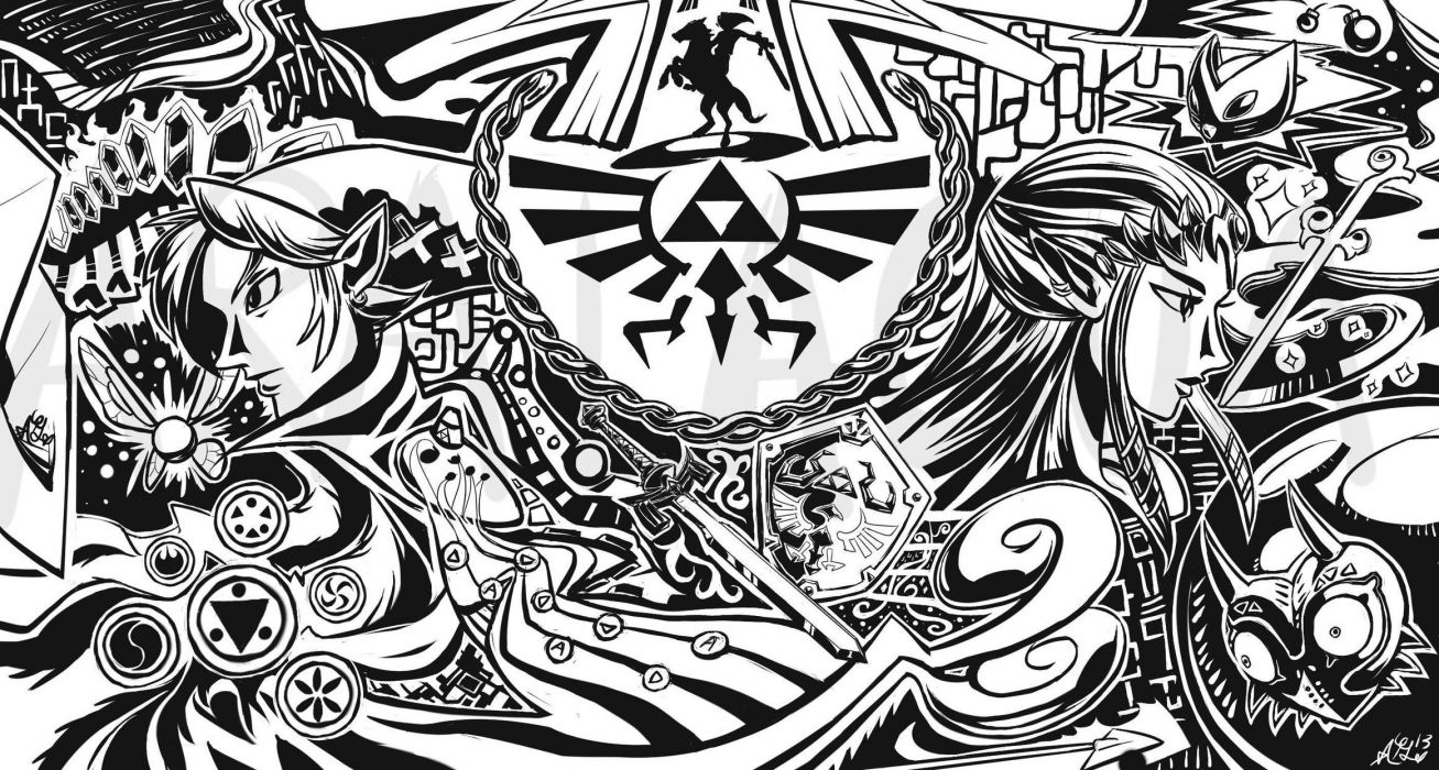 Link triforce Ocarina Of Time The Legend of Zelda Majoras Mask Navi Windwaker wallpaper