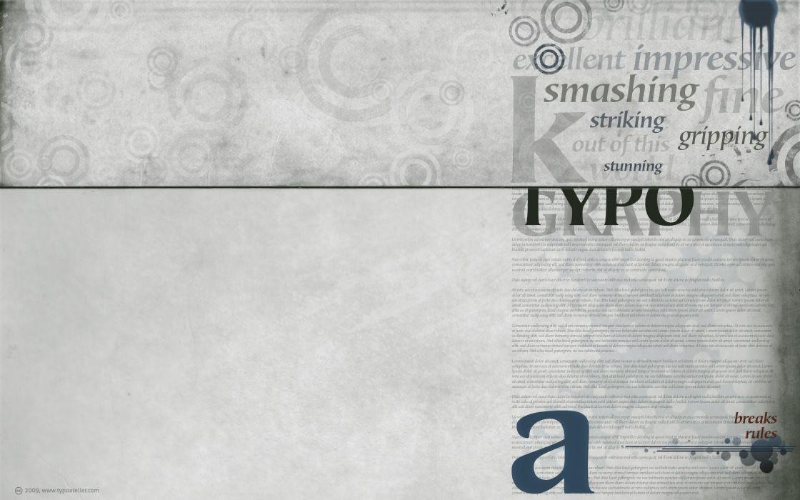 text circles typography wallpaper