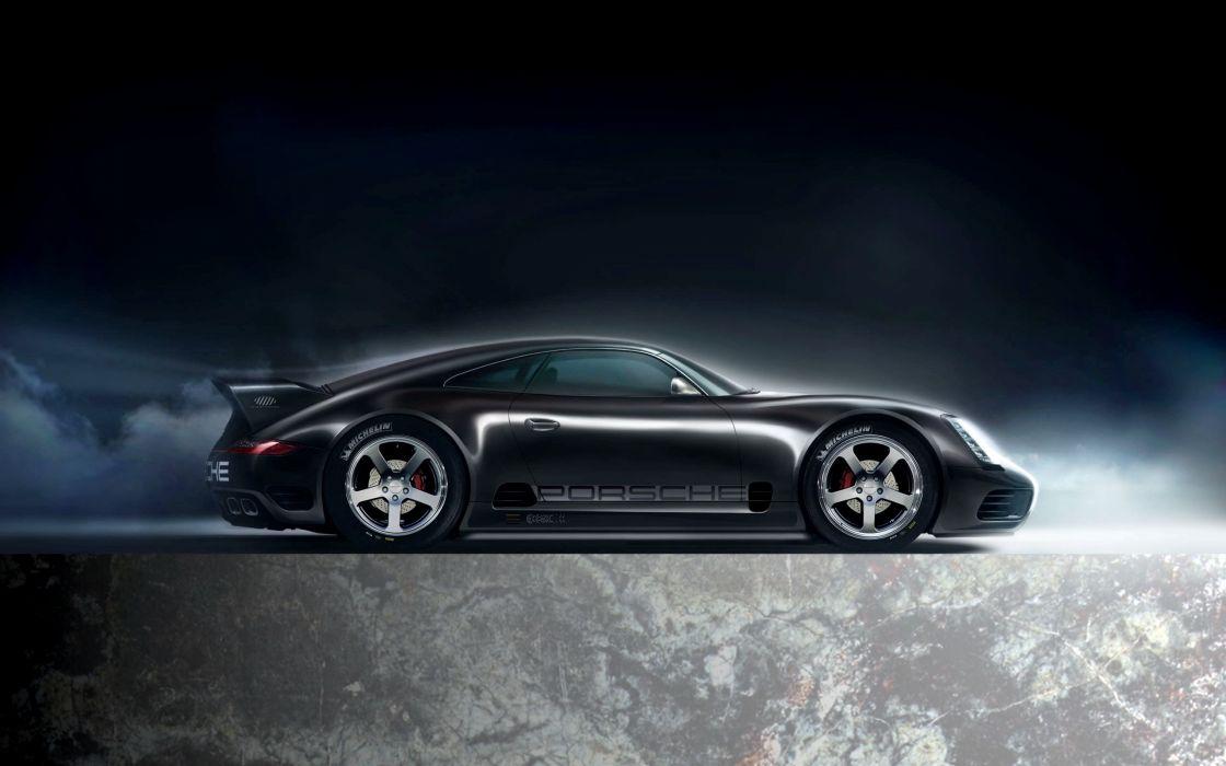 Porsche cars black cars Michelin wallpaper