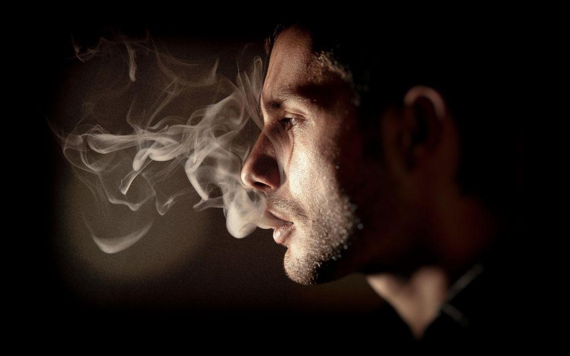 Smoking Smoke Men Profile Wallpaper