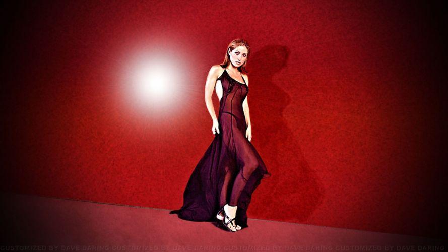 red dress Sasha Alexander wallpaper