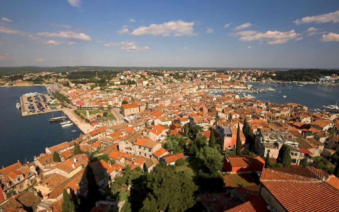 landscapes cityscapes town skyscrapers Croatia city skyline wallpaper
