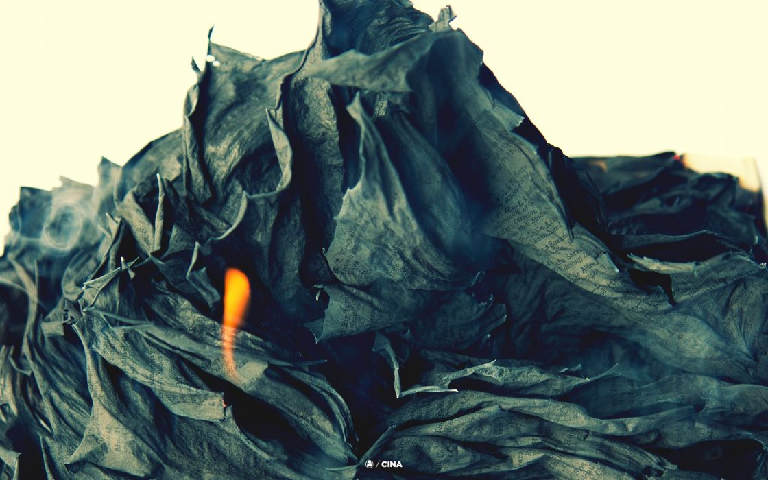 abstract flames paper smoke writing burning crumpled wallpaper