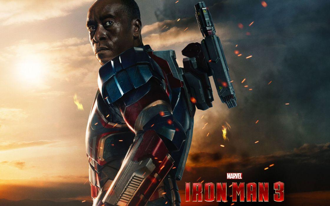 Iron Man Don Cheadle Iron Man 3 James Rupert  wallpaper