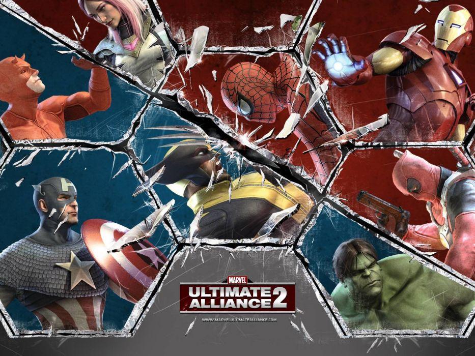 Hulk (comic character) Iron Man comics Spider-man Captain America Wolverine Deadpool Wade Wilson Daredevil Marvel Comics wallpaper