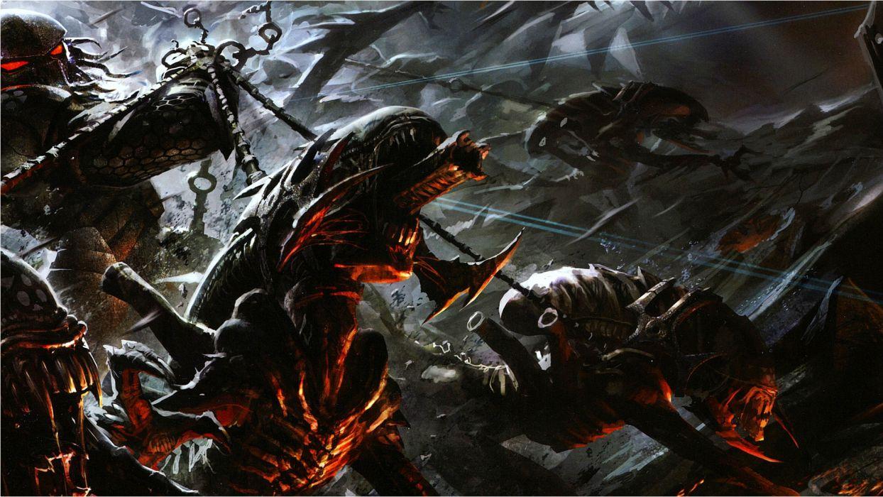 predator Alien wallpaper