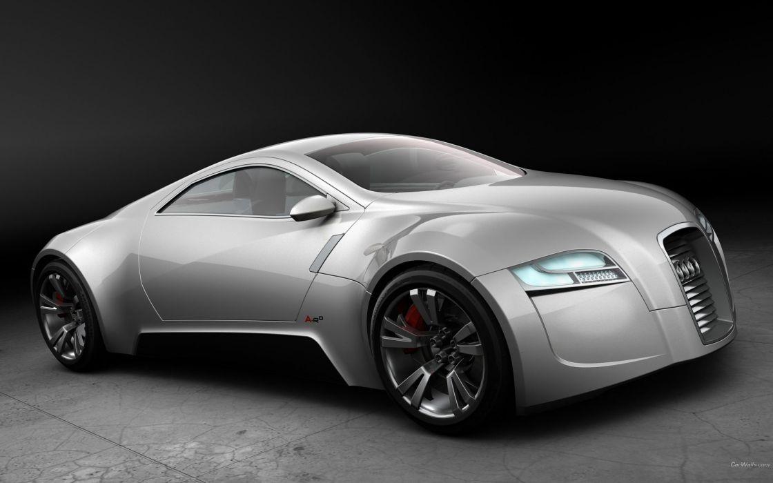 cars Audi concept art zero wallpaper