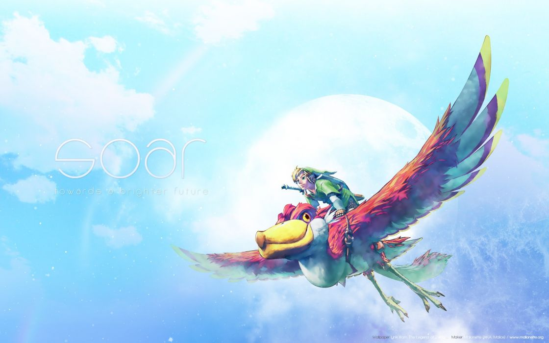 video games Link The Legend of Zelda artwork The Legend of Zelda: Skyward Sword SOAR wallpaper