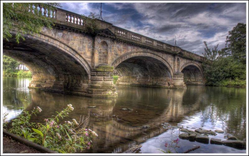 bridges HDR photography wallpaper