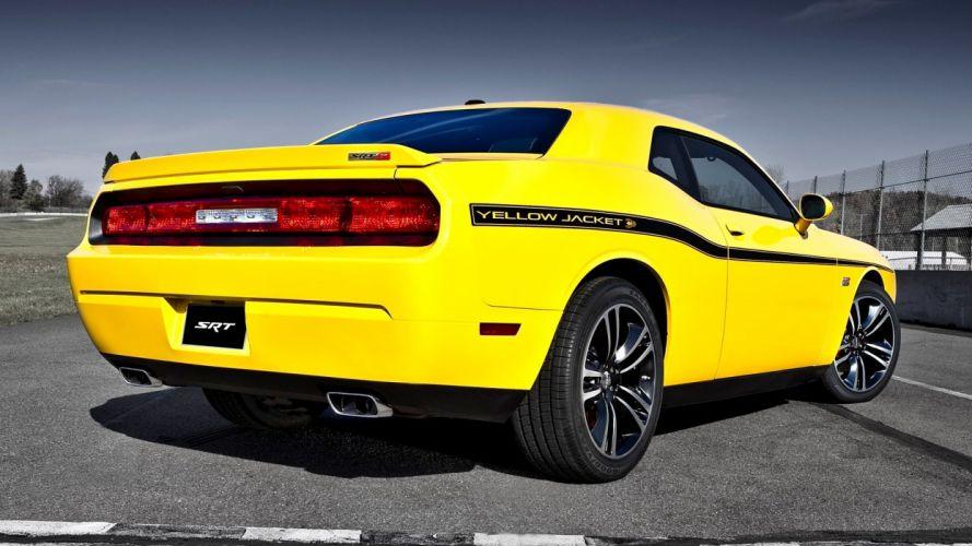 yellow cars Dodge Challenger Dodge Challenger SRT8 wallpaper