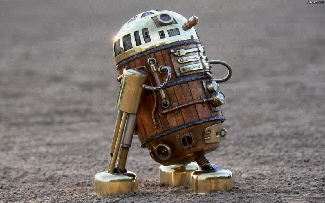 Star Wars robots steampunk R2D2 wallpaper