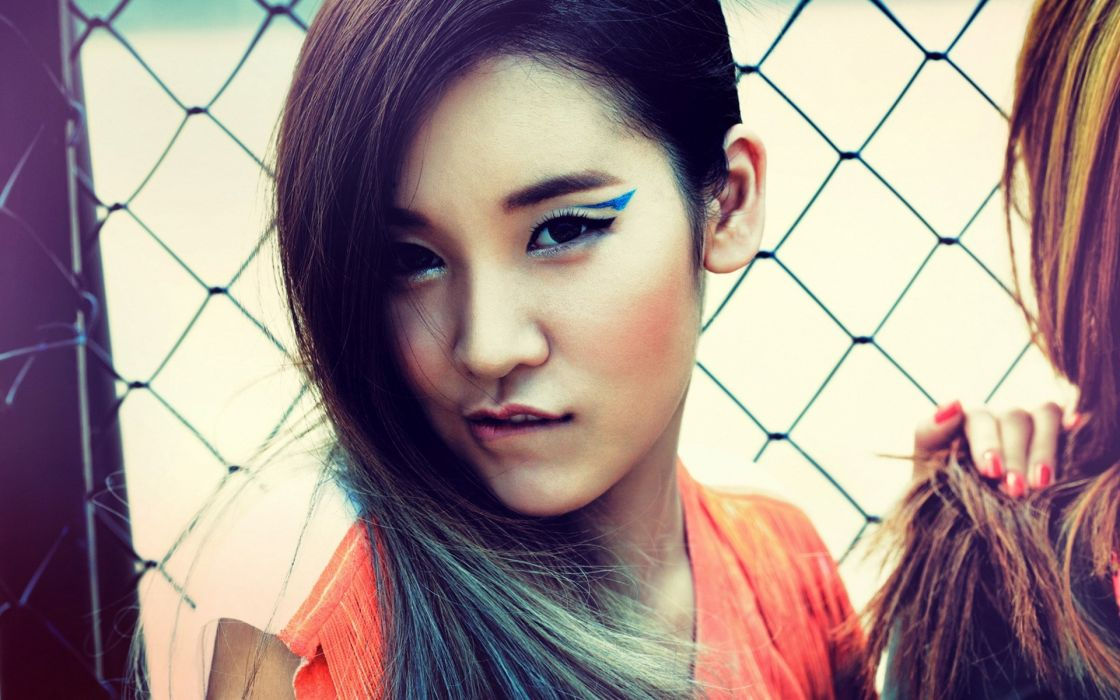 Asians Korean faces fashion model glam wallpaper