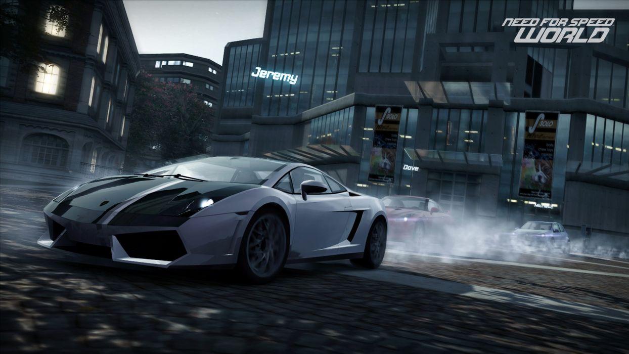 video games cars Lamborghini Gallardo Need for Speed World games pc games wallpaper