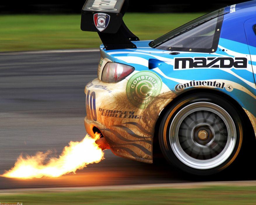 cars fire Mazda rings speed HD-800 Mazda Rx wallpaper