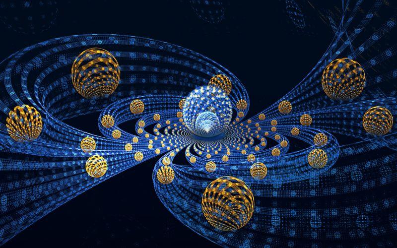 3D abstract fractal e wallpaper