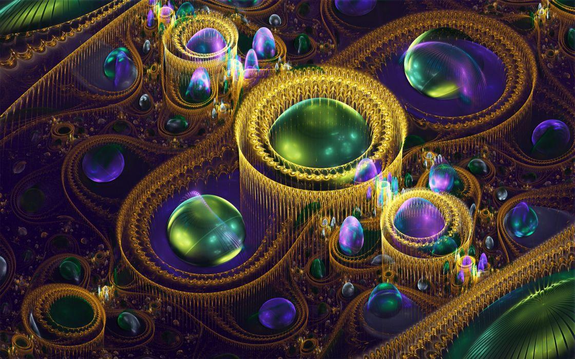 3D abstract fractal        r wallpaper