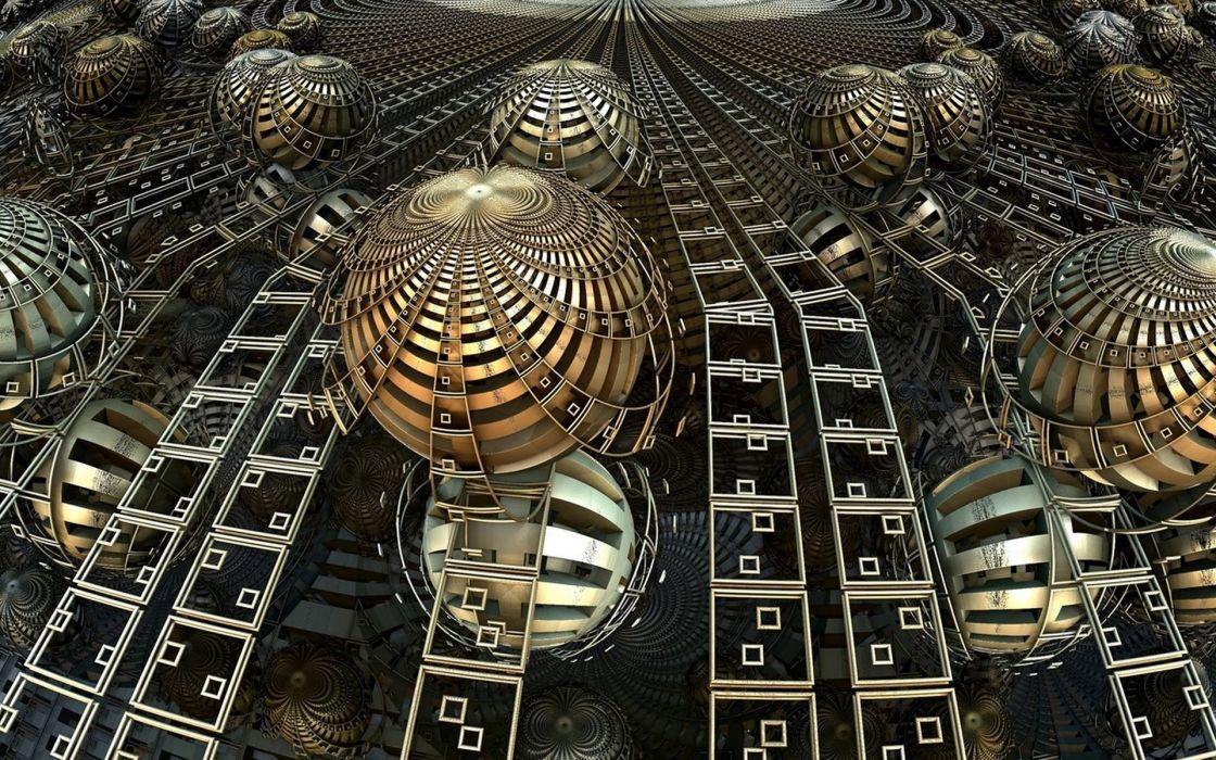 3D abstract fractal      s wallpaper