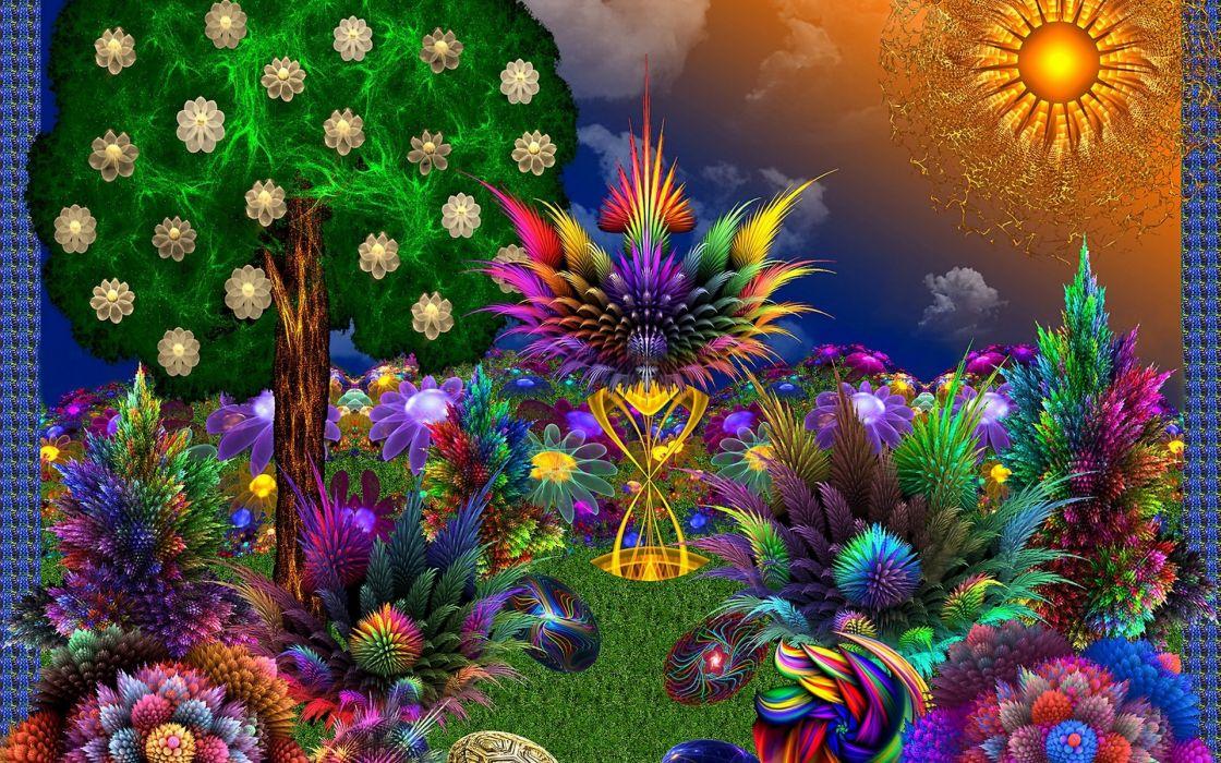 3D abstract fractal fantasy     r wallpaper