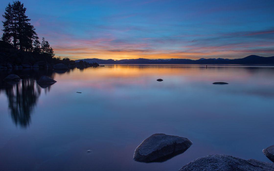reflection usa water lake wallpaper