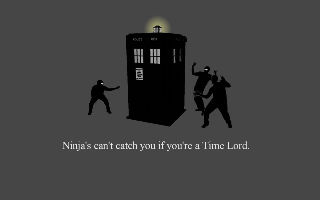 TARDIS ninjas cant catch you if Doctor Who wallpaper