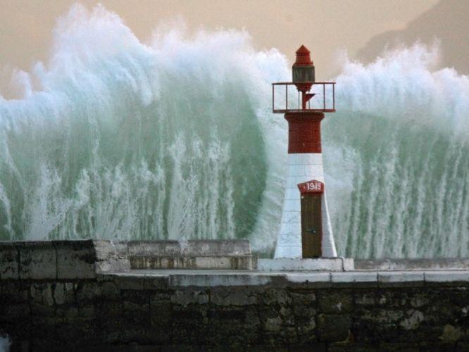 light South Africa Cape Town bay breakwater wallpaper