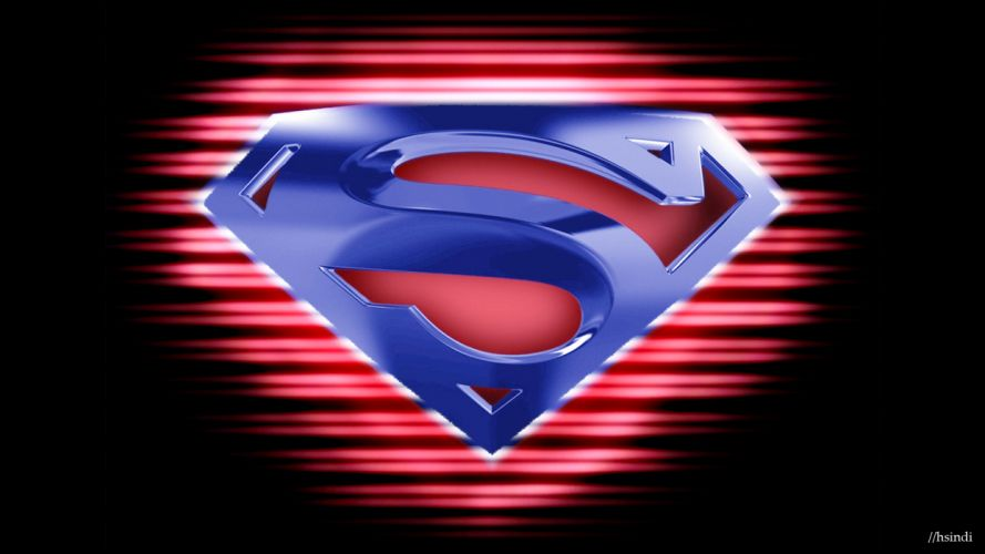 black dark DC Comics Superman logos Superman Logo wallpaper
