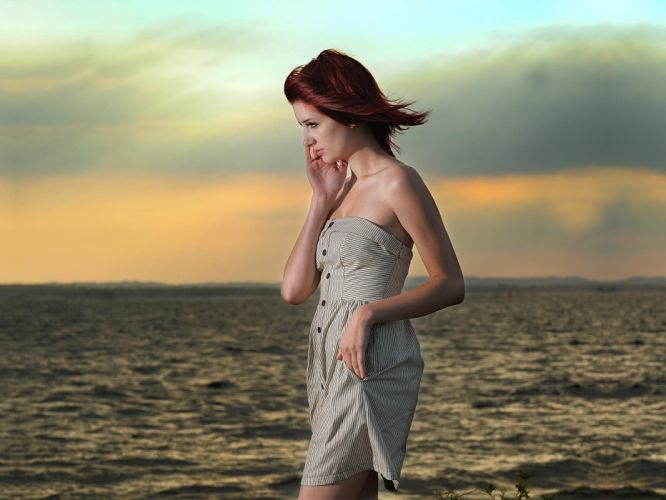 women Susan Coffey redheads wallpaper
