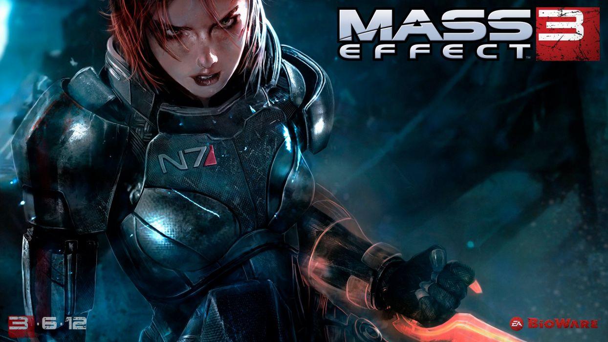 Video games BioWare Mass Effect 3 FemShep Commander Shepard
