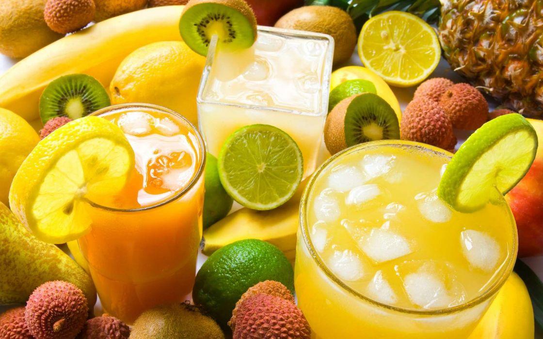 limes juice kiwi fruits wallpaper