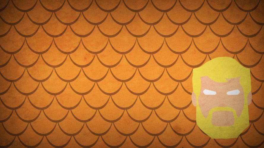 DC Comics orange superheroes Aquaman scales character illustration blo0p wallpaper