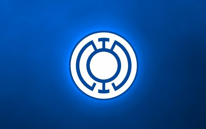 DC Comics logos Blue Lantern wallpaper