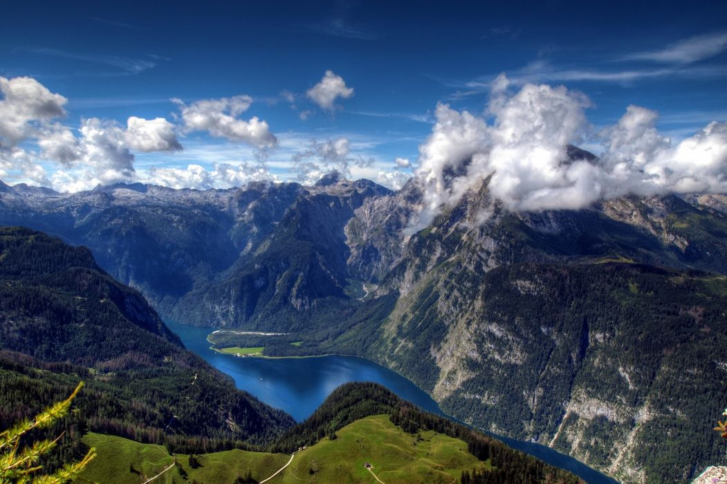 mountains clouds landscapes skyscapes wallpaper