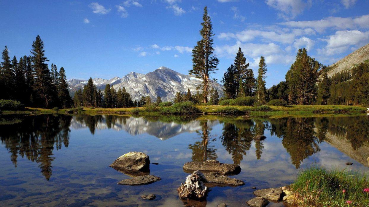 landscapes California Yosemite National Park wallpaper