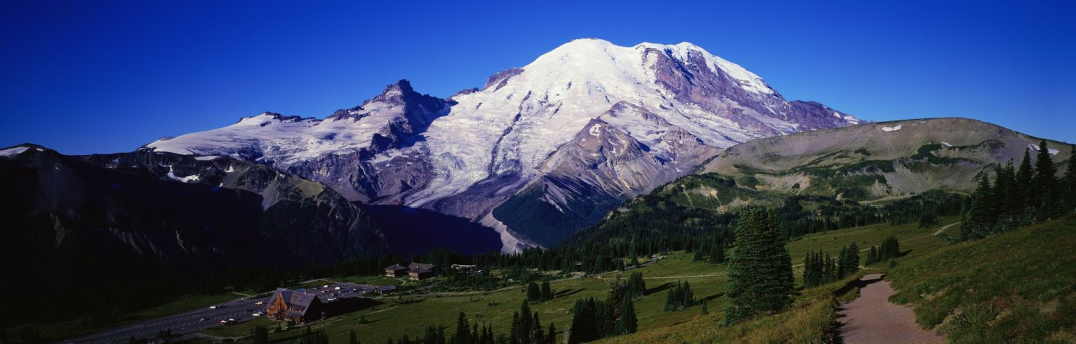 mountains landscapes multiscreen wallpaper