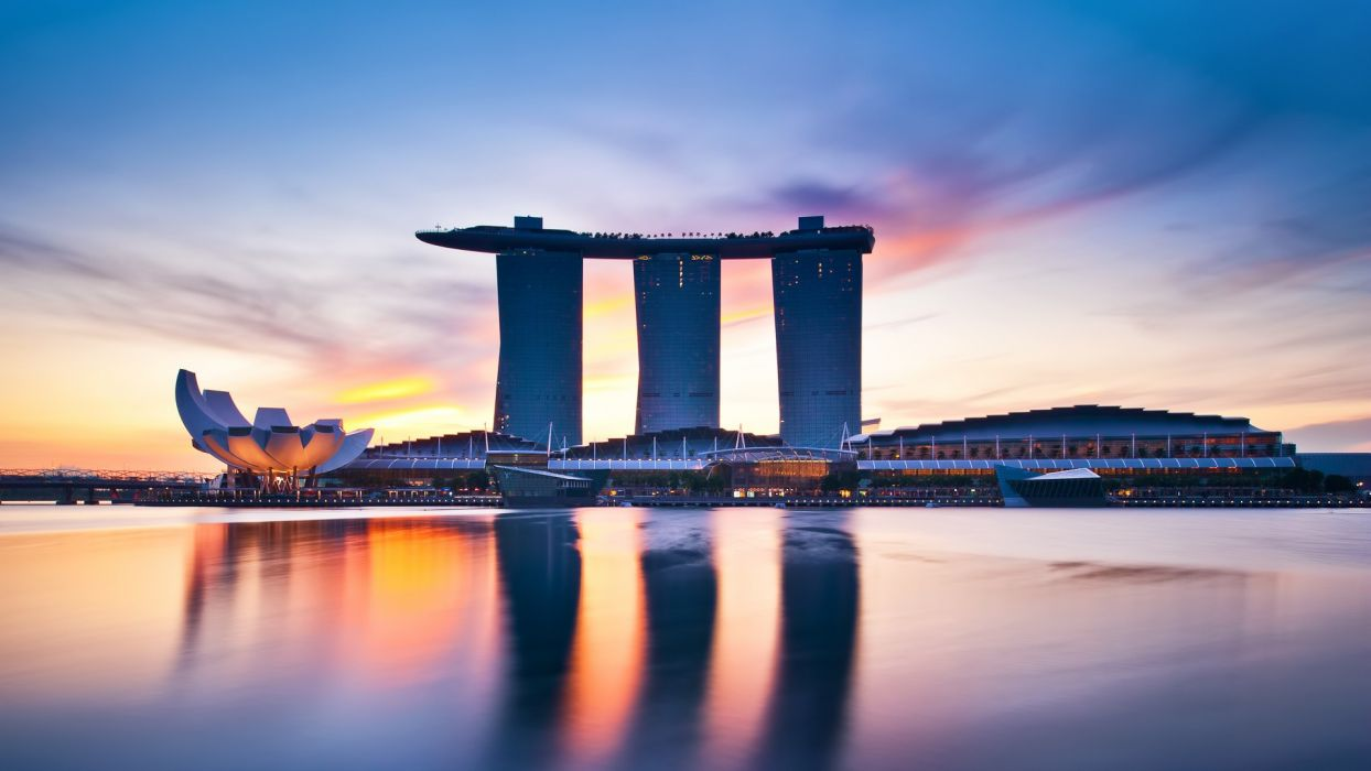 cityscapes architecture Singapore town skyscrapers Marina Bay Sands cities wallpaper
