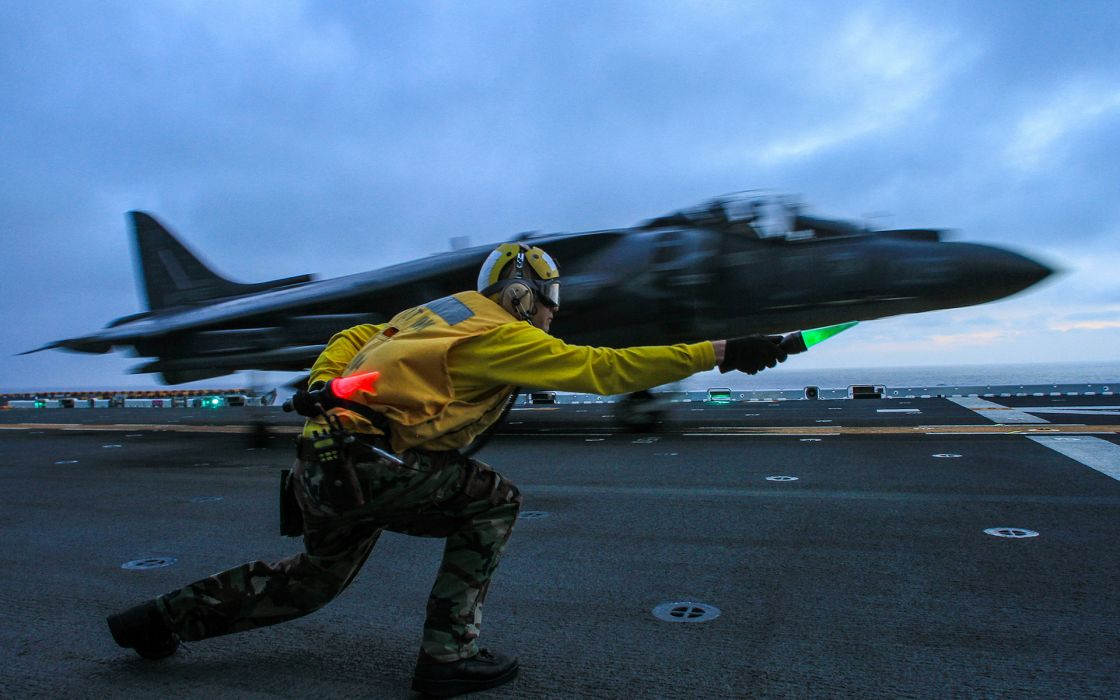 Aircraft Carrier Jet Takeoff Military Wallpaper
