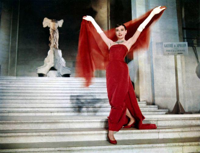 Audrey Hepburn Dress Brunette wallpaper