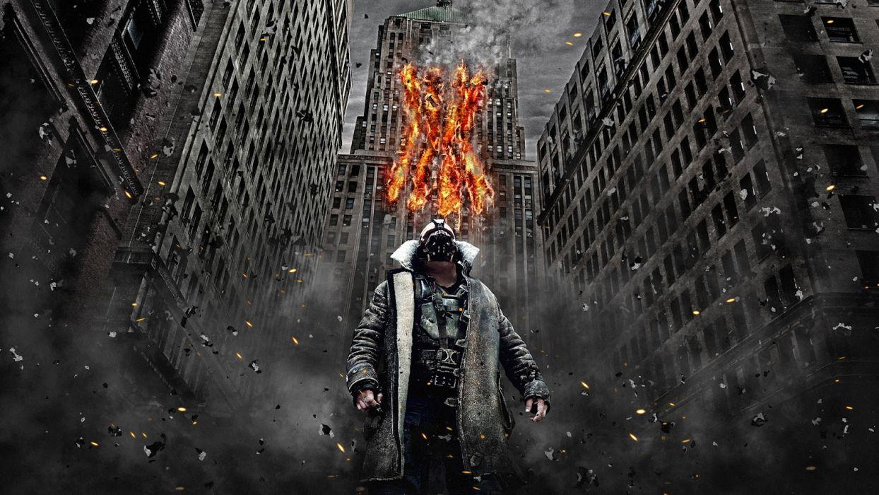 Batman The Dark Knight Rises Bane Debris Buildings Wallpaper