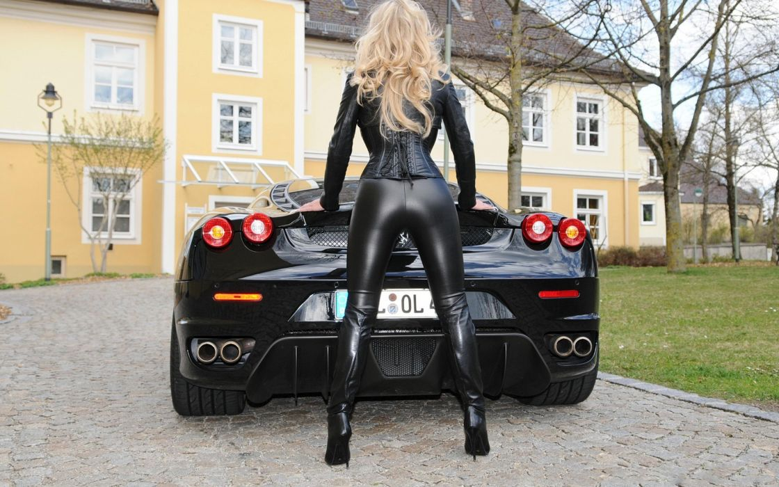 cars women blondes Ferrari sexy wallpaper