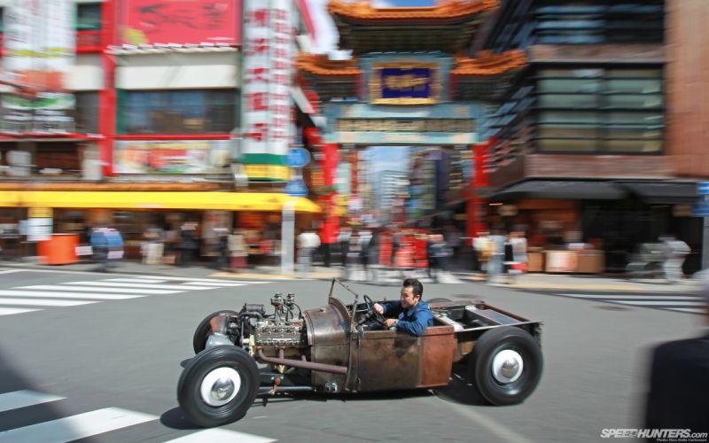 Classic Car Classic Hot Rod Rat Rod Ford Rust Motion Blur wallpaper
