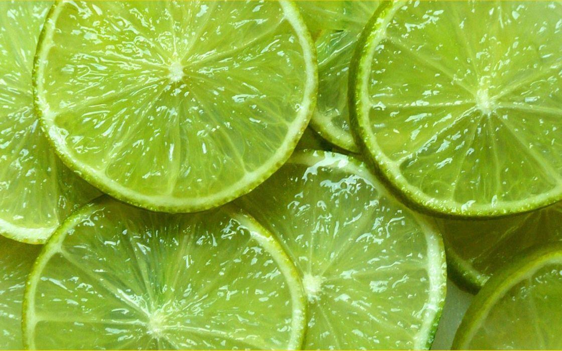 green lime wedges fruit wallpaper